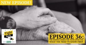 holding hands with an elderly person